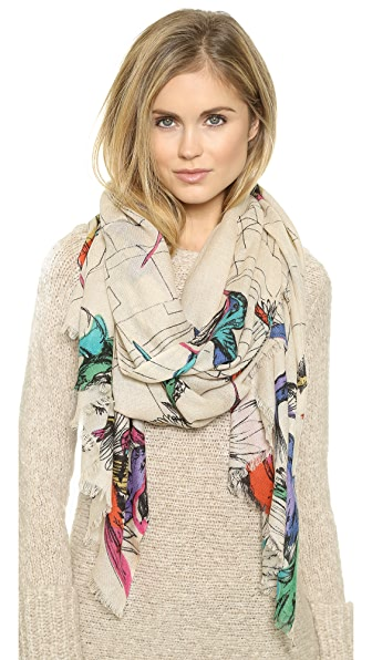 YARNZ Hummingbirds Scarf