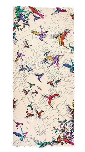 YARNZ Hummingbirds Scarf