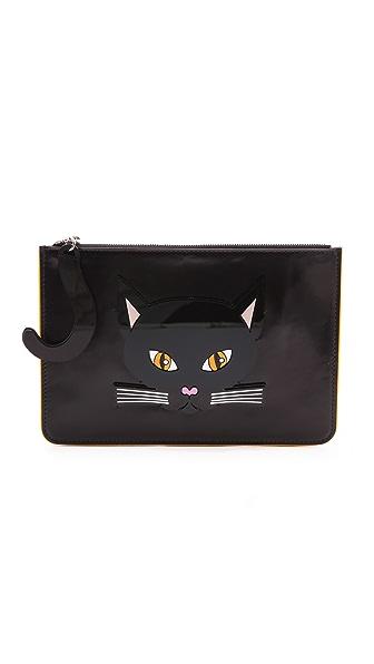 Yazbukey Black Cat Clutch