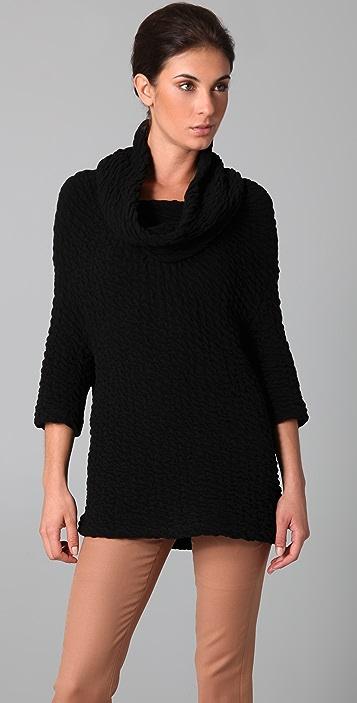 Yigal Azrouel Cowl Neck Cloque Sweater