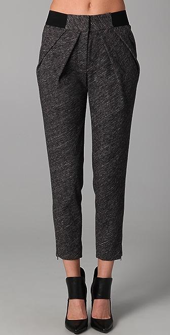 Yigal Azrouel Melange Jersey Pants