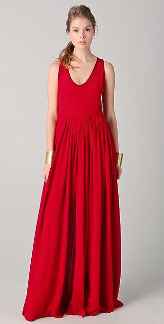 Yigal Azrouel Full Skirt Maxi Dress with Slits