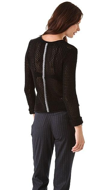 Yigal Azrouel Mesh Knit Sweater
