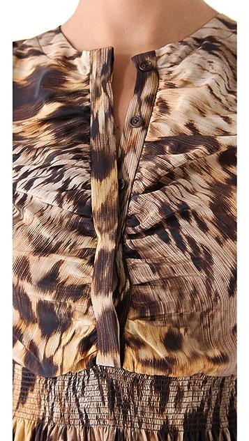Yigal Azrouel Leopard Silk Crepe Dress