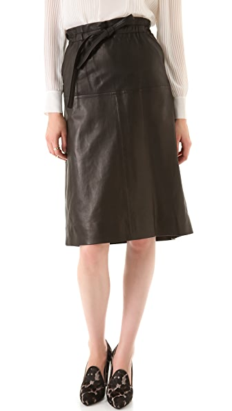 Yigal Azrouel Lamb Leather Skirt