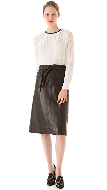 Yigal Azrouel Lamb Leather Skirt
