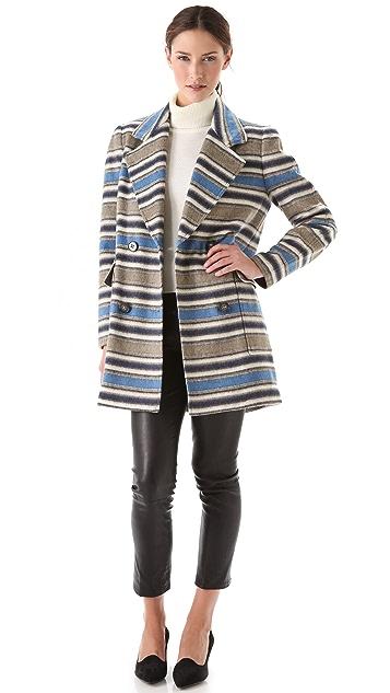 Yigal Azrouel Block Stripe Wool Jacket