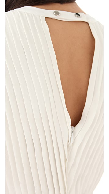 Yigal Azrouel Sleeveless Pleated Top