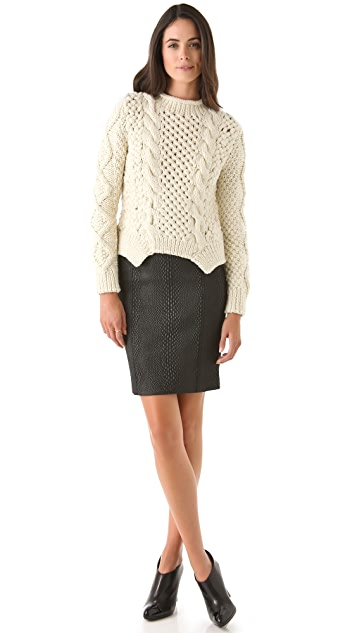 Yigal Azrouel Python Pencil Skirt