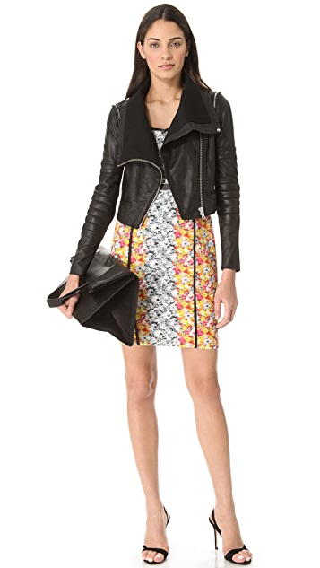 Yigal Azrouel Cropped Leather Moto Jacket