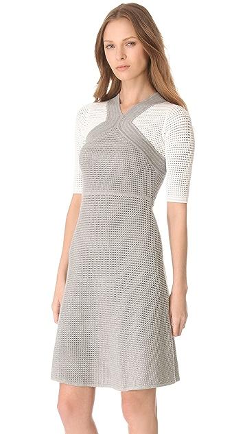 Yigal Azrouel Open Waffle Knit Dress