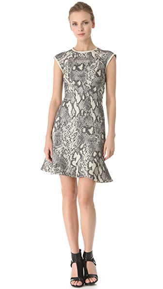 Yigal Azrouel Reptile Jacquard Dress