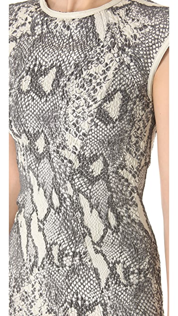 Yigal Azrouel Reptile Jacquard Dress