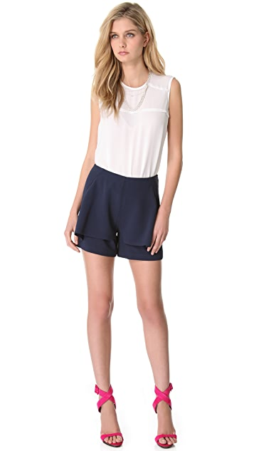 Yigal Azrouel Poly Tech Crepe Shorts