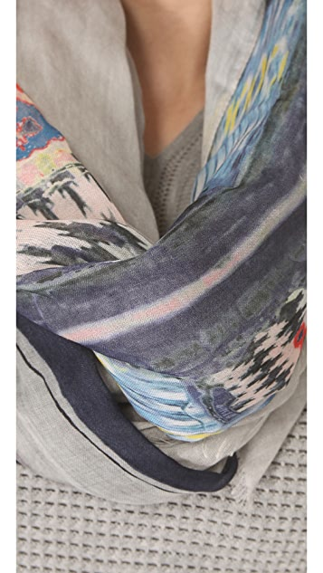 Yigal Azrouel Dress Print Scarf