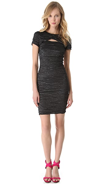 Yigal Azrouel Stretch Metallic Dress