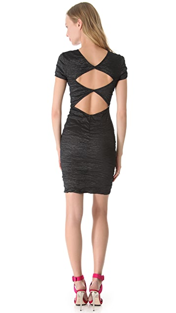 Yigal Azrouel Stretch Metallic Dress