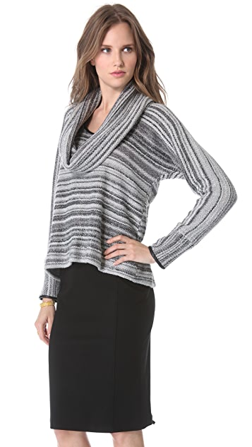 Yigal Azrouel Boucle Cowl Neck Sweater