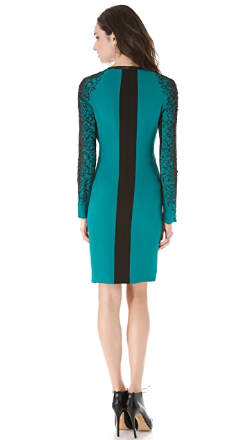 Yigal Azrouel Embroidered Georgette Dress