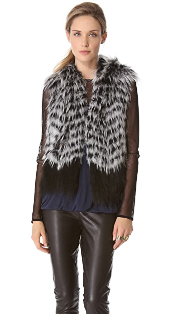 Yigal Azrouel Hooded Fur Vest