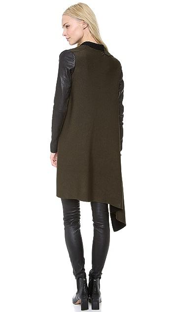 Yigal Azrouel Double Knit Drape Cardigan
