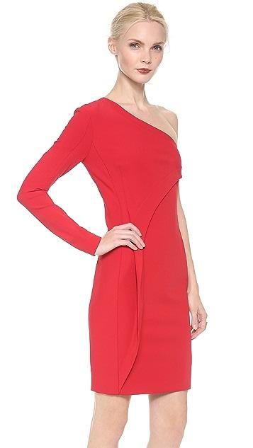 Yigal Azrouel Bi Stretch Tech One Shoulder Dress