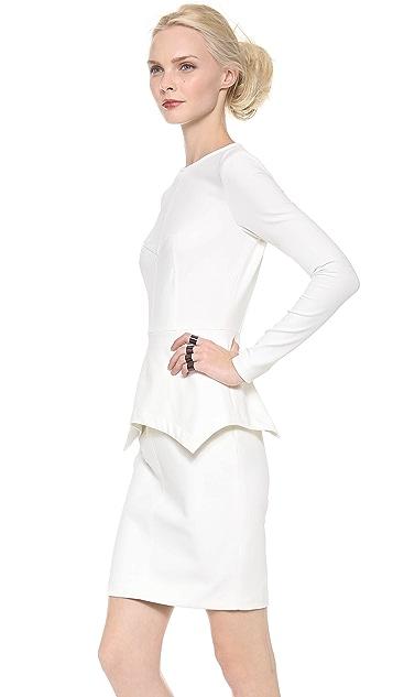 Yigal Azrouel Stretch Dress with Peplum