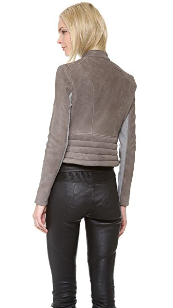 Yigal Azrouel Two Tone Leather Jacket