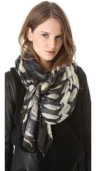 Yigal Azrouel Snake Print Scarf
