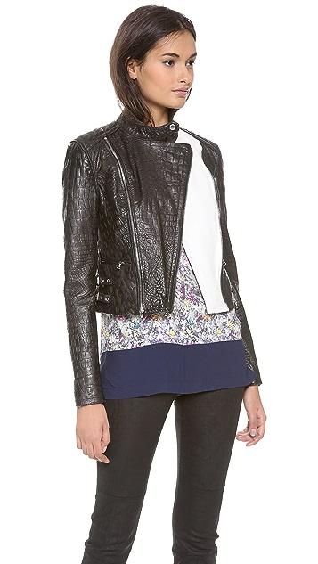 Yigal Azrouel Reptile Leather Moto Jacket