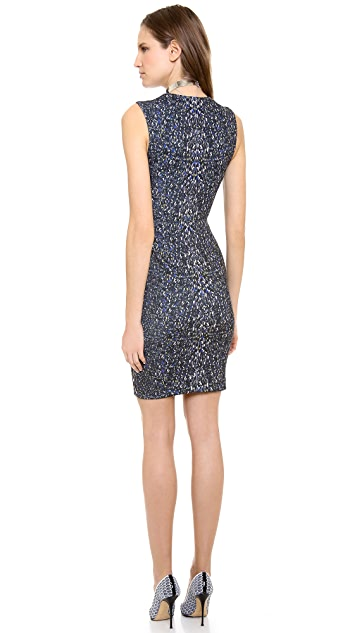 Yigal Azrouel Small Feather Scuba Dress