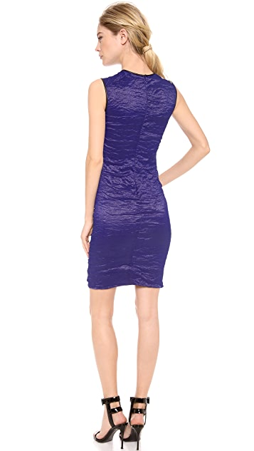 Yigal Azrouel Stretch Metal Taffeta Dress