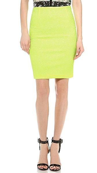 Yigal Azrouel Swirl Knit Jacquard Skirt