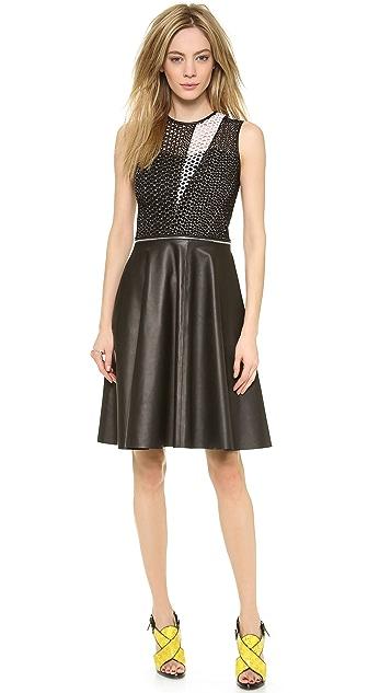 Yigal Azrouel Convertible Patchwork Dress