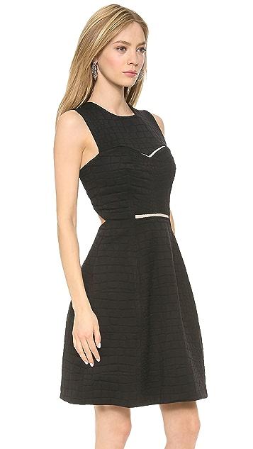 Yigal Azrouel Stretch Black Python Dress