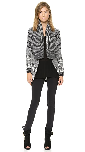 Yigal Azrouel Graphic Jacquard Cardigan