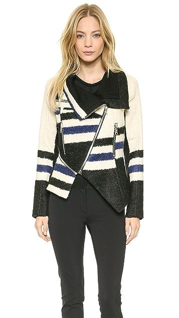 Yigal Azrouel Elongated Stripe Jacket