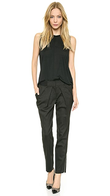 Yigal Azrouel Pinstriped Pleated Trousers