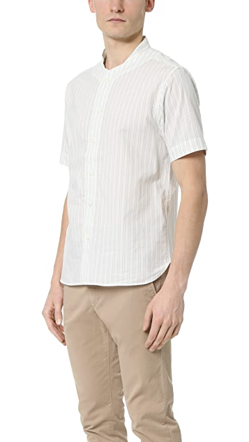 YMC Double Stripe Baseball Shirt