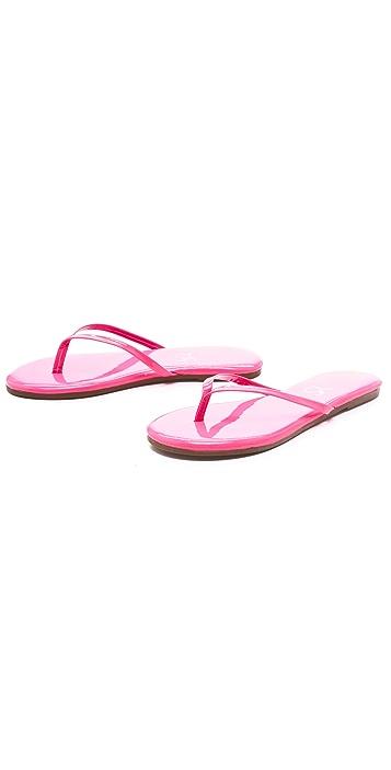Yosi Samra Neon Patent Flip Flops