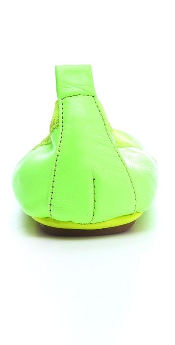 Yosi Samra Neon Elastic Ballet Flats