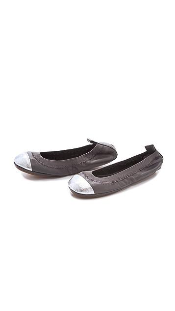 Yosi Samra Two Tone Cap Toe Flats