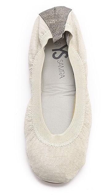 Yosi Samra Printed Croco Ballet Flats