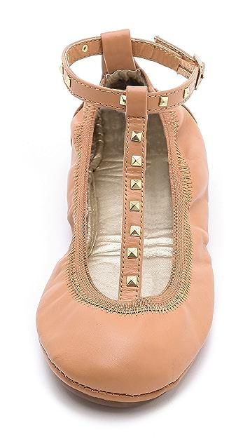 Yosi Samra Studded T-Strap Ballet Flats