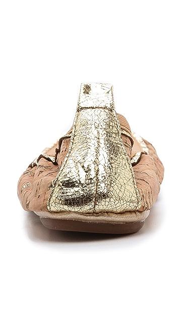 Yosi Samra Glitter Cork Ballet Flats