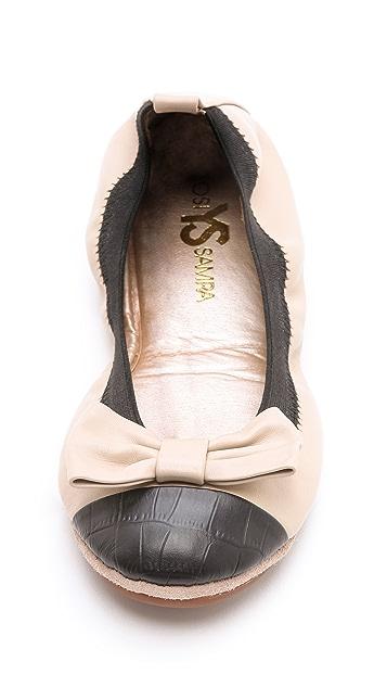 Yosi Samra Two Tone Ballet Flats