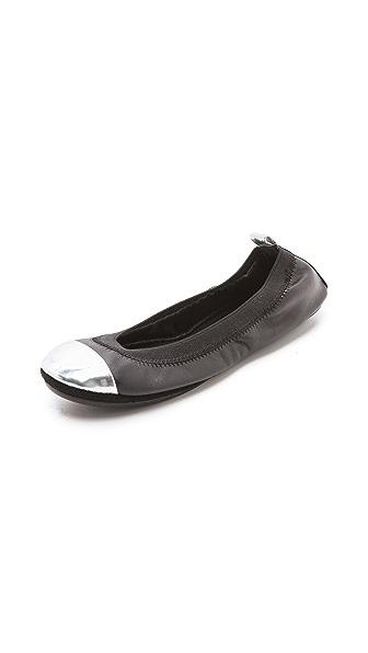 Yosi Samra Two Tone Specchio Ballet Flats