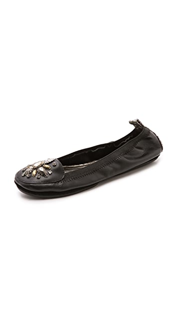 Yosi Samra Rhinestone Loafers
