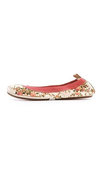 Yosi Samra Floral Canvas Ballet Flats