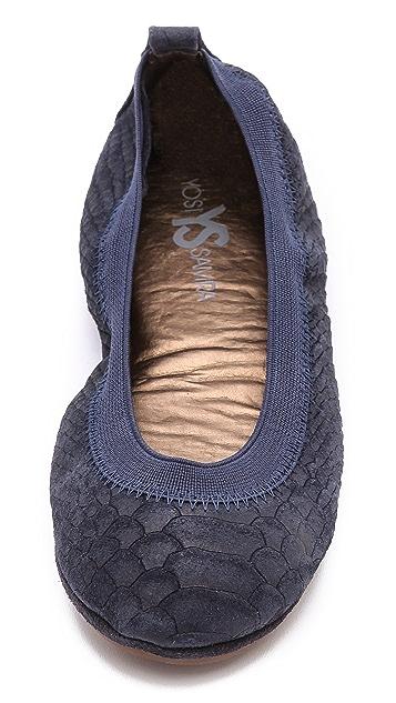 Yosi Samra Croc Embossed Ballet Flats